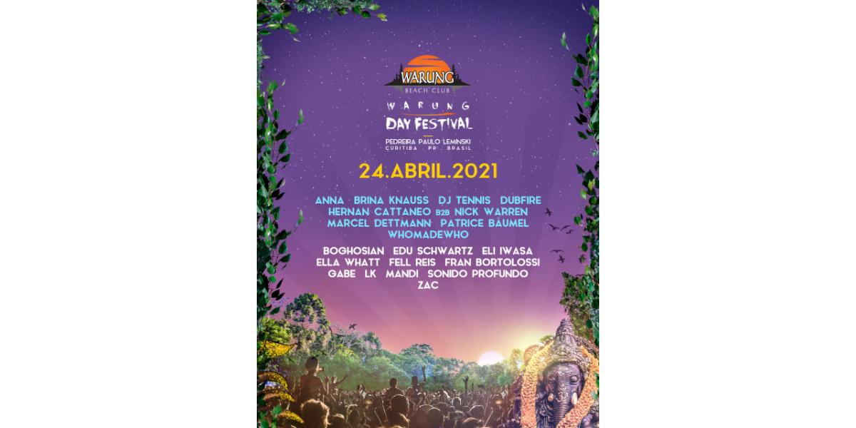 Warung Day Festival anuncia nova data